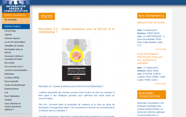 Info Presse et Communication