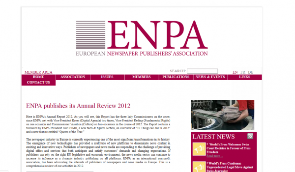 Association Européenne des Editeurs de Journaux