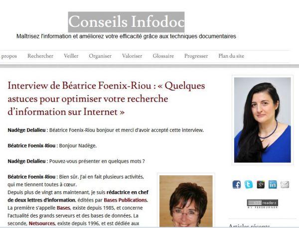 Conseils Infodoc