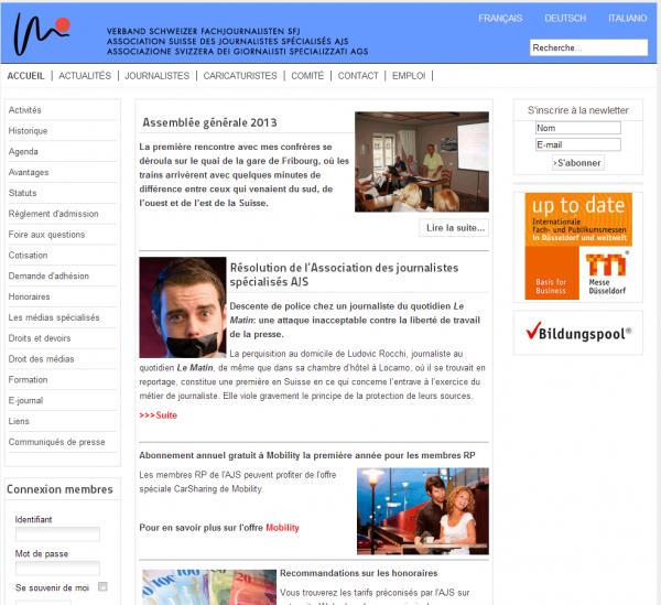 Association suisse des journalistes spécialisés
