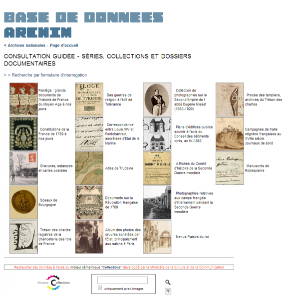 Archim (Archives nationales Images de documents)