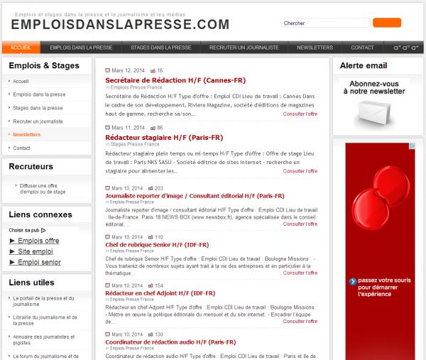 Emploisdanslapresse.com