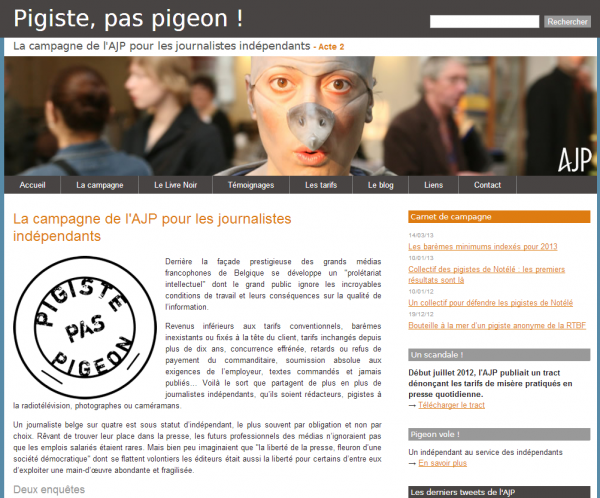 Pigiste pas pigeon