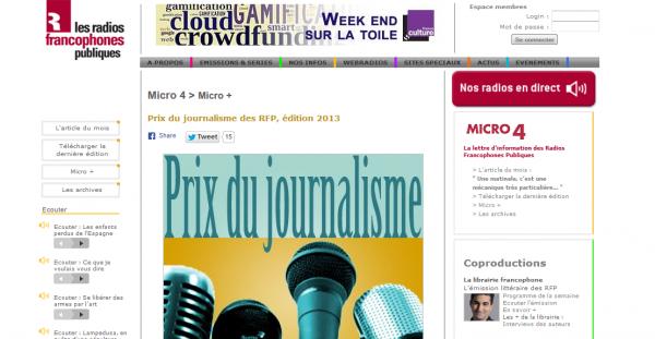 Prix du journalisme des RFP