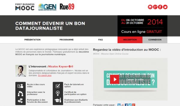 MOOC en français sur le journalisme numérique.