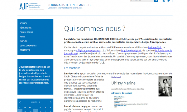 Journalistefreelance.be