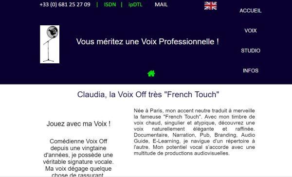 Claudia Rousseaux Voix Off
