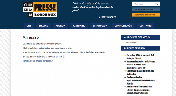 Annuaire médias Aquitaine