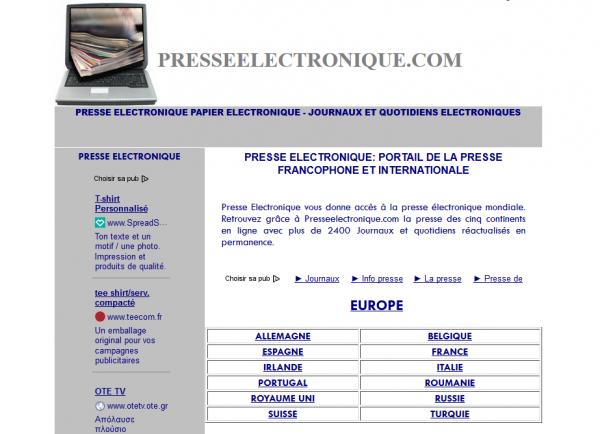 Presse électronique
