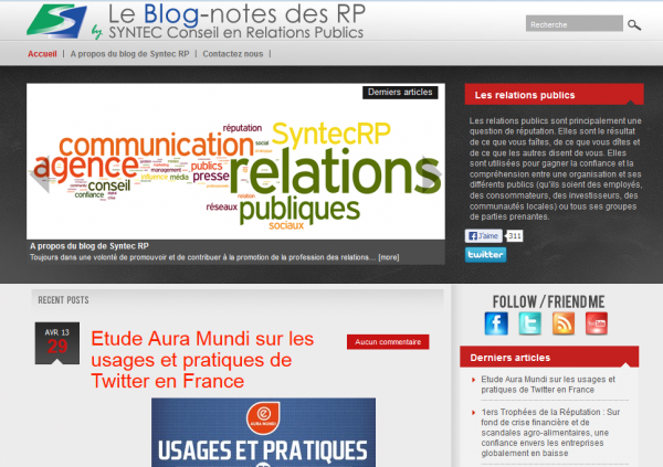 Le Blog-notes des RP