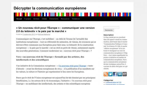 Décrypter la communication européenne