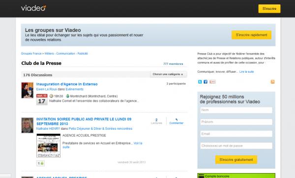 Groupe Viadeo : Club de la Presse